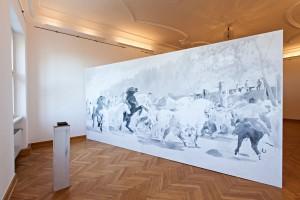 "Megan Francis Sullivan, ""Road Trip"", 2013. Installationsansicht Schloss Agathenburg, 2014"