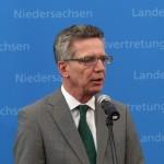 Bundesinnenminister Thomas de Maizière kam auf Einladung der Länder-Innenminister zur Konferenz