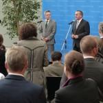 Boris Pistorius, Niedersachsens Inneminister, eröffnet nach der Konferenz die Pressekonferenz