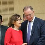 MP Stephan Weil mit Staatsministerin Margit Conrad aus Rheinland-Pfalz
