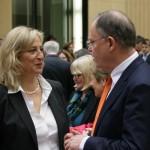 MP Stephan Weil im Gespräch mit Dr. Ute Rettler, Direktorin des Bundesrates
