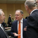 MP Stephan Weil und sein Kollege aus Sachsen-Anhalt MP Dr. Reiner Haseloff