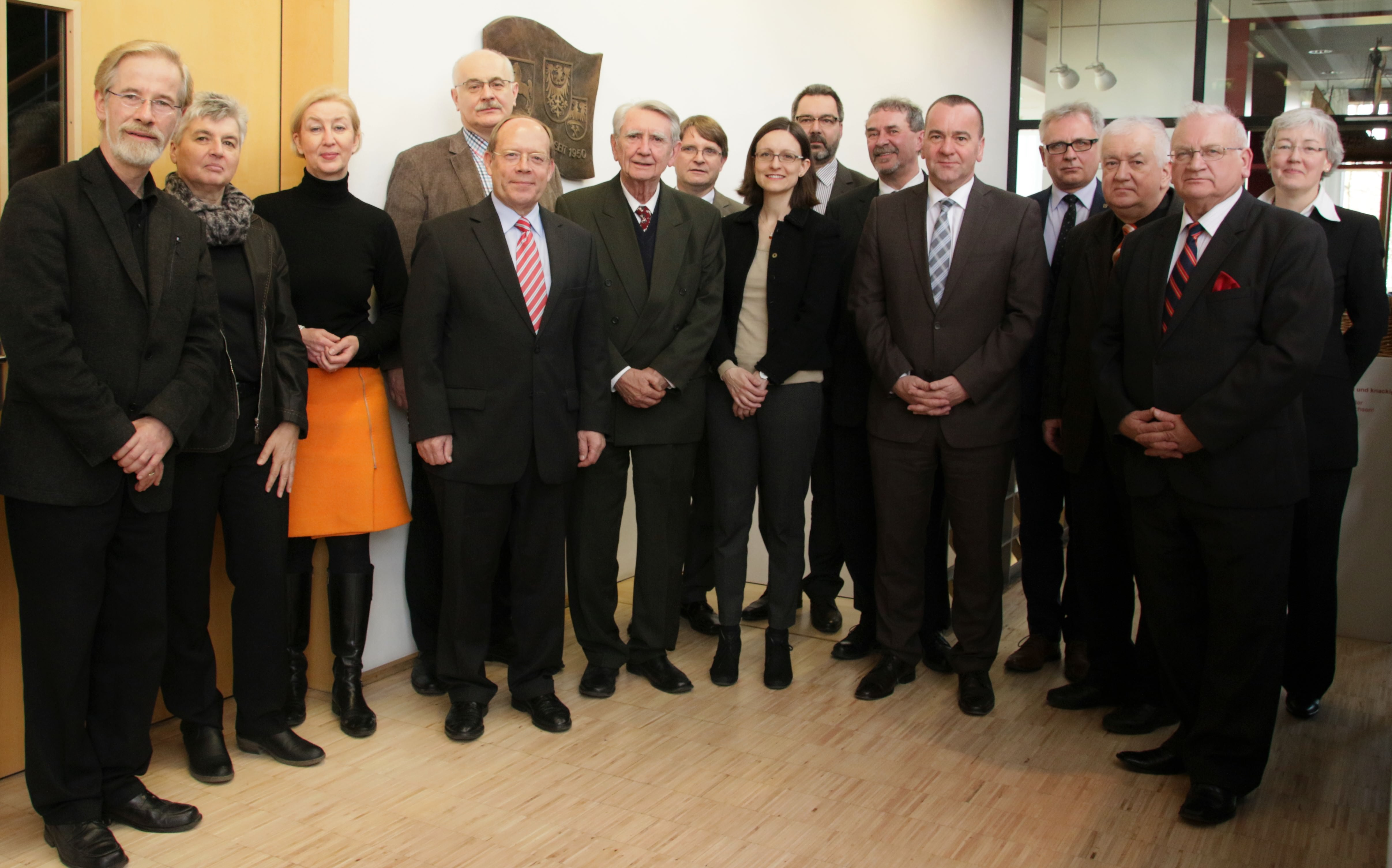 In der Landesvertretung Niedersachsen: Die Jury vor Beginn ihrer Sitzung