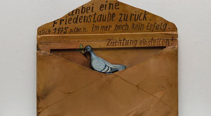 """Karl Schaper, Holzbrief """"Noah und die Taube"""", 1979/83"""