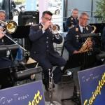 Das Swingtett des Luftaffenmusikkorps Münster spielte zur Unterhaltung der Gäste