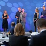 Die A-Capella Gruppe Juicebox unterhielt die Zuhörer in den Redenpausen