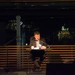 Wolfgang Jüttner liest; Foto: Christof Mahnel