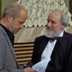 Michael Pelke von der Landesvertretung im Gespräch mit Prof. Reinhold Haux
