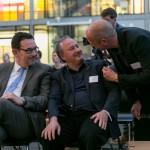 Staatssekretär Michael Rüter und Michael Pelke im Gespräch mit Avni Altiner