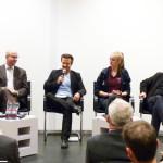 Das Podium (v.l.n.r.) Anke Lincke, Christian Breuer, Moderator Kai Gemeinder, Marieluise Witting, Tom Stryck und Katja Lüke