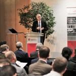 Hans-Peter Wyderka, Niedersächsisches Wirtschafts- und Verkehrsministerium, erläutert die Sicht des Landes
