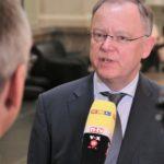 Viel gefragt zum EEG: Niedersachsens MP Stephan Weil