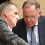 Die Spitze der Landesregierung: MP Stephan Weil und sein Stellvertreter Stefan Wenzel